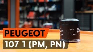 PEUGEOT 107 Olajszűrő szerelési: ingyenes videó