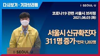 코로나19 관련 서울시 브리핑 - 8월 3일 | 서울시…