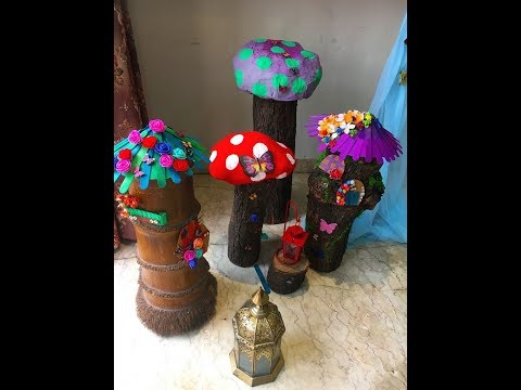 DIY - crafting / forest fairy theme / mushrooms / fairy houses / Paper crafting/birthday decoration