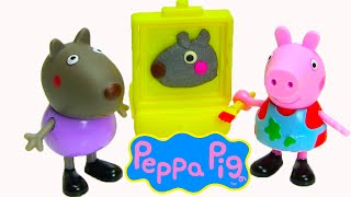 Play Doh Peppa Pig And Danny Dog Painting Together
