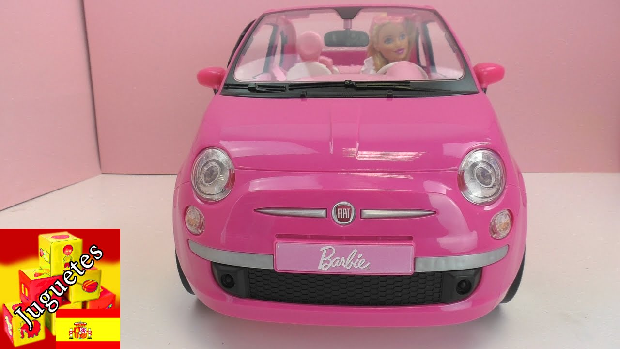 Fiat Cabrio De Barbie Demo Fiat 500 De Mattel Barbie Vehicle