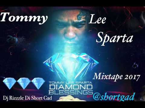 Tommy Lee Sparta - Diamond Blessings ( Mix August 2017) Dj Rizzzle Di Short Gad