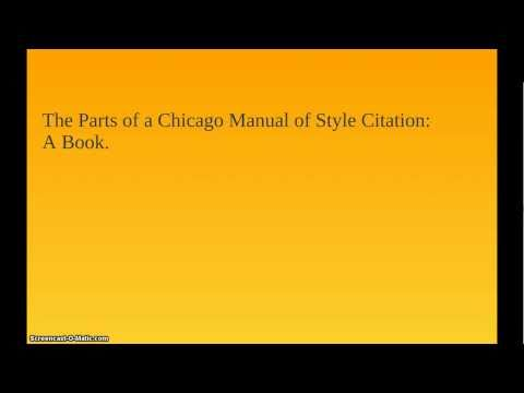 Chicago Style Citation - Book