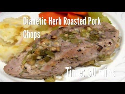 Diabetic Herb Roasted Pork Chops Recipe