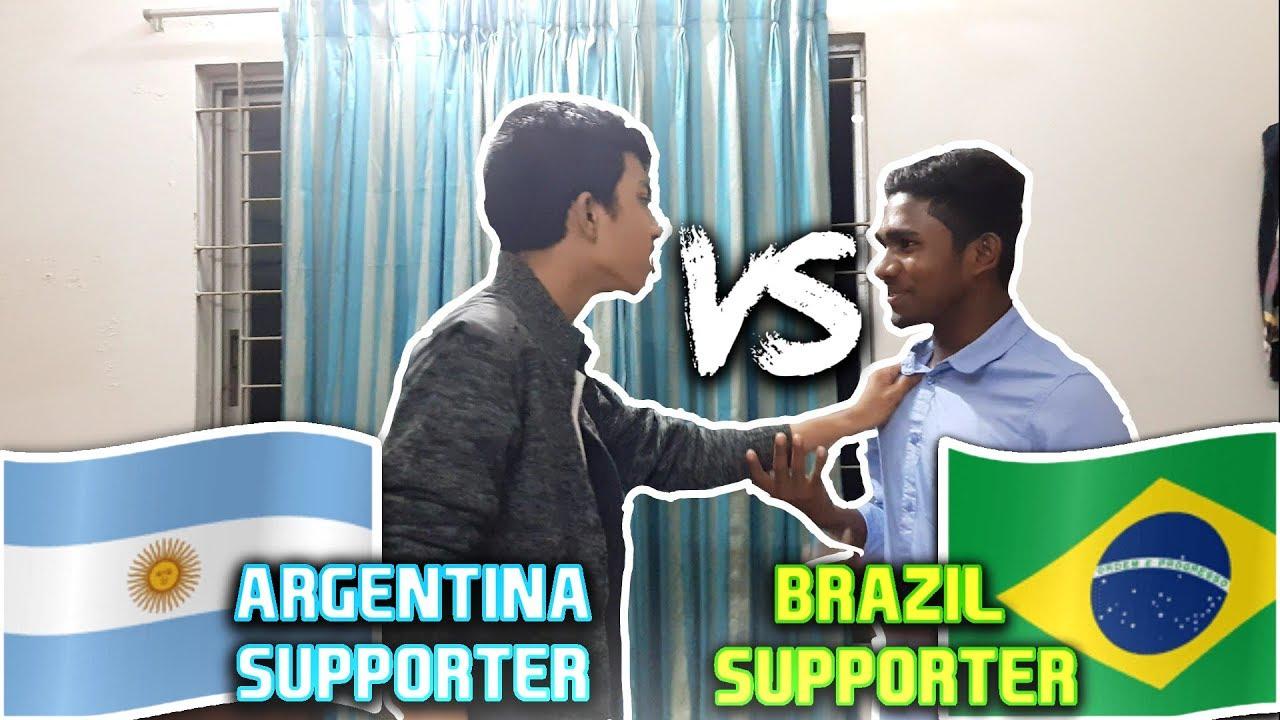 Argentina Supporter Vs Brazil Supporter Argentina Vs Brazil Funny Video  Youfour Tv