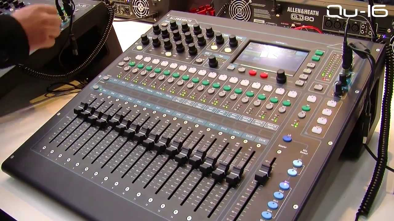musikmesse 2013 allen heath qu 16 overview youtube. Black Bedroom Furniture Sets. Home Design Ideas