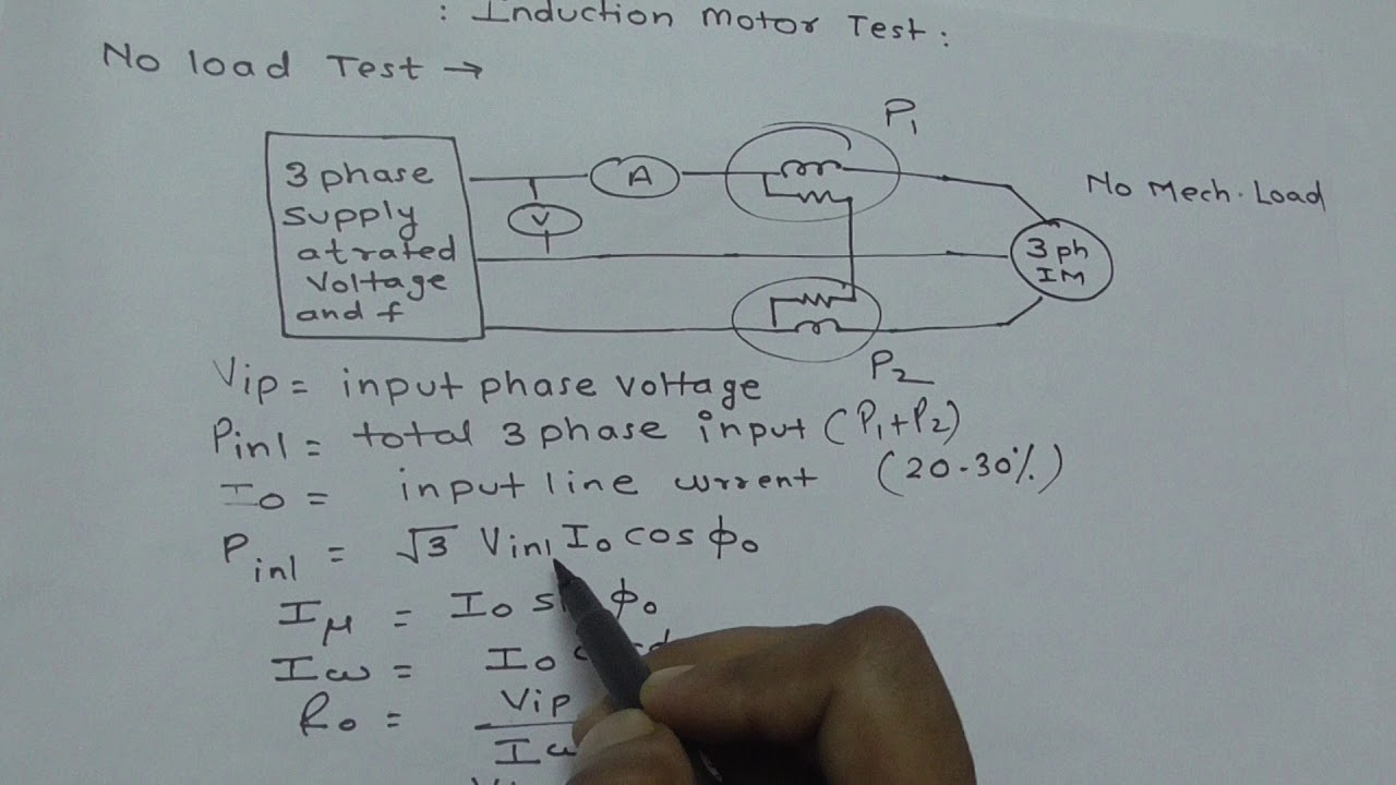 induction motor no load test and blocked rotor test
