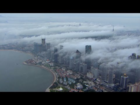 Have you ever flown through fog in Qingdao?