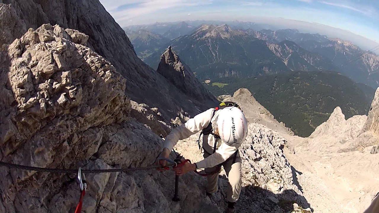 Klettersteig Zugspitze Stopselzieher : Zugspitze stopselzieher bergsport total youtube
