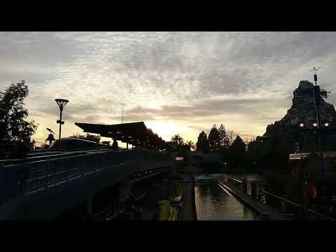 The Monorail Station in Disneyland Anaheim.Los Angeles.California 12-23-2017.
