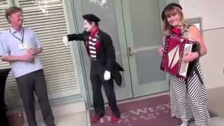 Can Can Offenbach French Accordion (Katrina with Mime Derek) Los Angeles