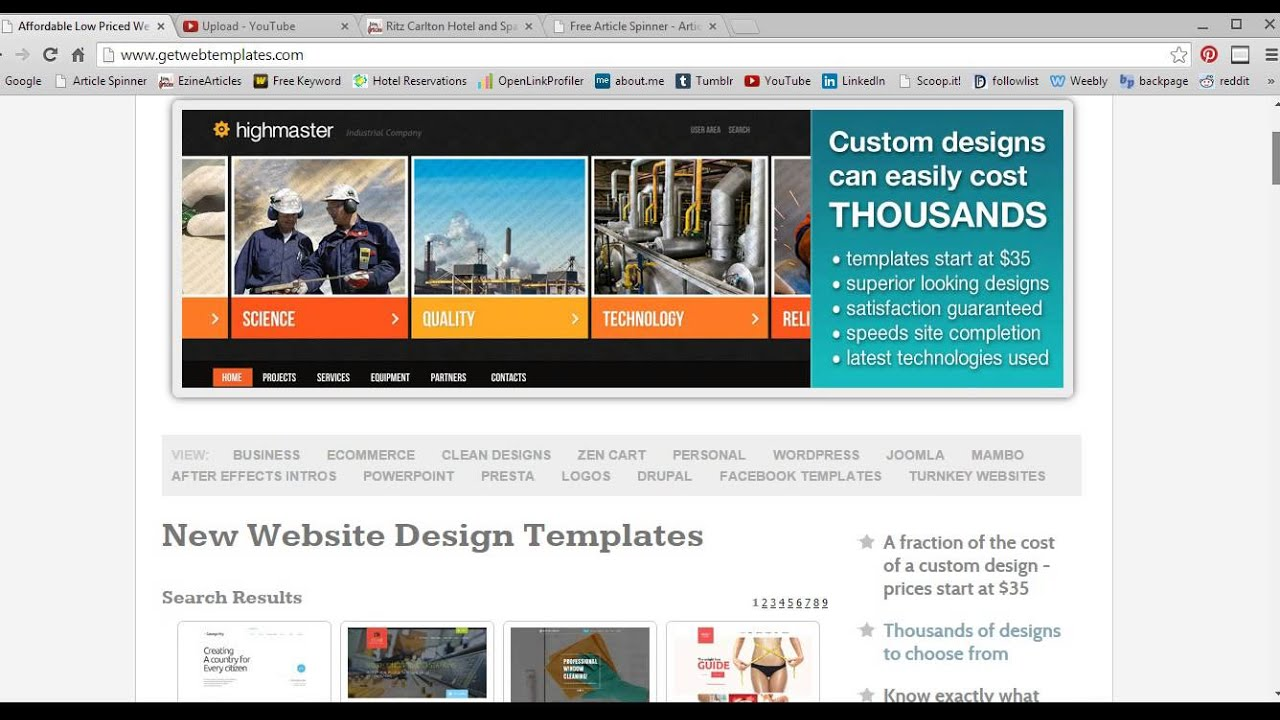Buy Website Templates Cheap And Best - YouTube