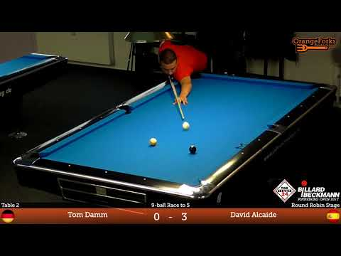Tom Damm v David Alcaide | Group | TOR SERVICE 24 / BILLARD BECKMANN | Pinneberg Open 2017