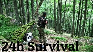 24h Survival Training - Durstig im Schwarzwald (Folge 1) //  Benjamin Claussner (Outdoor HD Video)