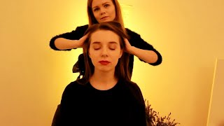 АСМР Массаж Головы Неразборчивый Шёпот с Wonderlisa Asmr Asmr Hair Spa Inaudible