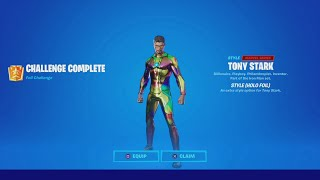 TRUMAnn Unlocking IRON MAN Tier 100 RAINBOW/HOLO FOIL Style! (Tony Stark HOLO Foil Skin) Fortnite.