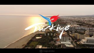 Конаклы Аланья Numa Konaktepe Hotel и средиземноморское побережье с высоты Отдых в Турции 2021
