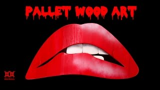 Rocky Horror Picture Show Wall Art Made From Pallet Wood