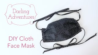 DIY: Sew a Face Mask with Ties & Filter Pocket (Very Easy)
