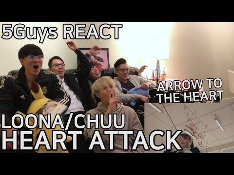 [ADORBS] LOOΠΔ/Chuu (이달의 소녀/츄) - Heart Attack (5Guys MV REACT)
