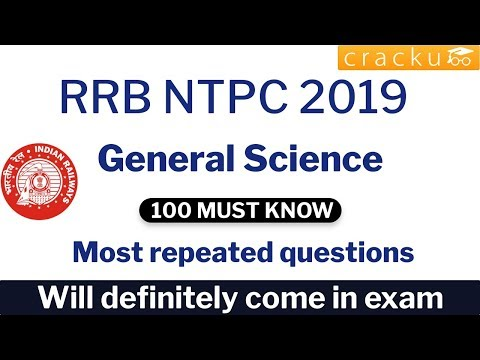 Top-100 Expected RRB NTPC General Science Questions PDF - Cracku