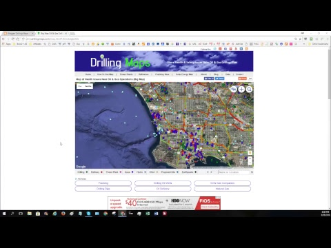 How to Search for Waste Water Fracking Ponds on DrillingMaps.com