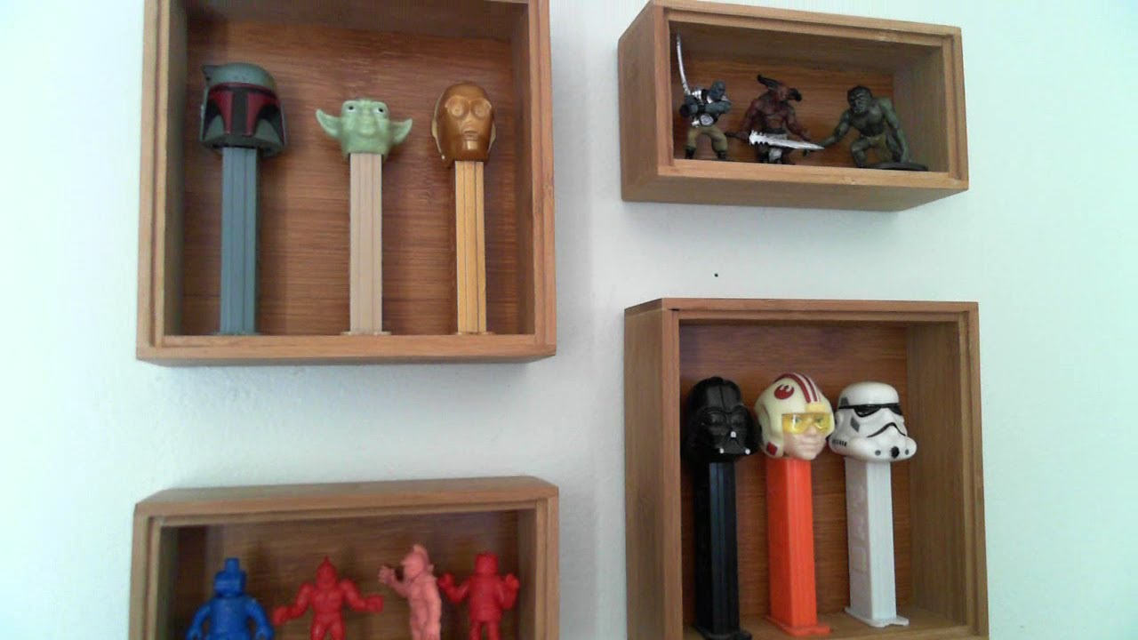 DIY Collectible Mini Display Case YouTube - Display shelves collectibles wall shelves for collectibles display
