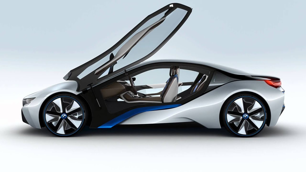 World Debut of BMW i8 Electric Hybrid Sports Car Concept  YouTube