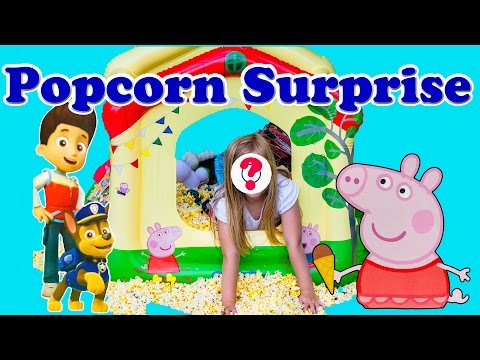Backyard Fun with the Peppa Pig and Paw Patrol Popcorn Surprise
