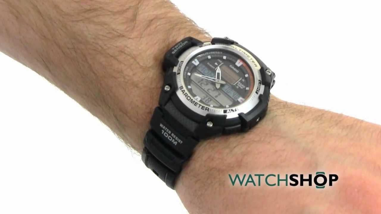 Casio SGW 400H 1BVER | Montre Acier, Casio, Homme, Noir  kxm8n