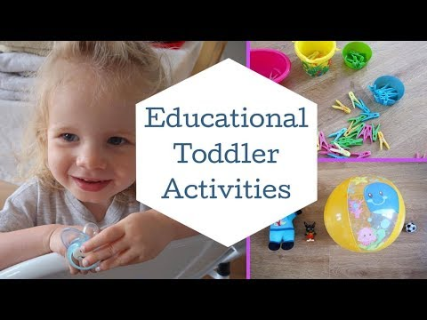 No cost, Educational Toddler Activities!  How to entertain a toddler!