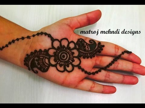 Very Easy Simple Mehndi Henna Designs For Hands For Kids Mehndi Designs Tutorials Youtube