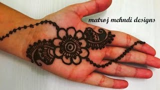 very easy simple mehndi henna designs for hands for kids|mehndi designs tutorials