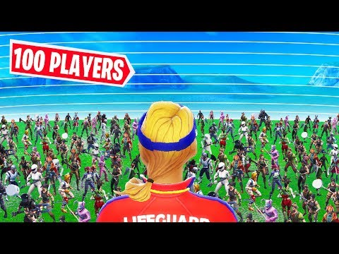 100 Players NO WEAPONS Custom Lobby! BUILD to SURVIVE the Horde! - Fortnite Custom