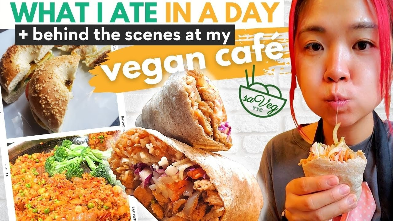 What I Ate + DAY IN MY LIFE AT MY VEGAN CAFE! (What I Ate in a Day + Getting My 💩 Together)