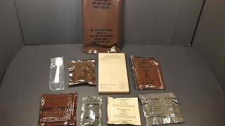 1987 Vintage MRE Ground Beef Review + 54 Year C Ration Peanut Butter Eating Oldest Military Food