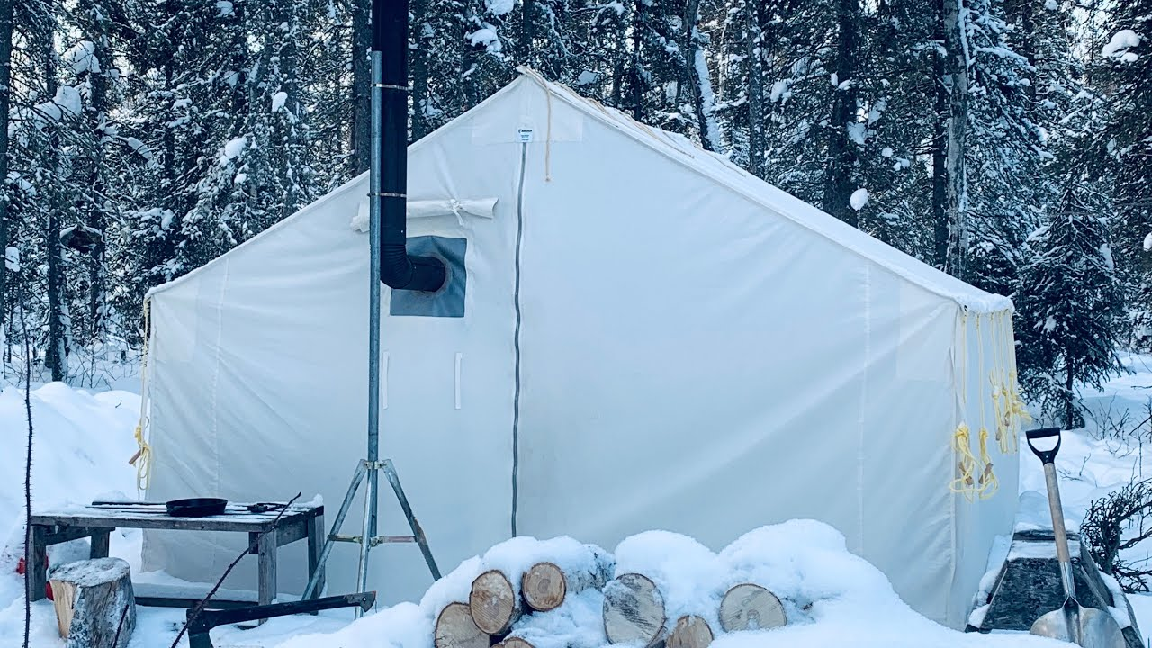 Download FROZEN WINTER WALL TENT CAMPING