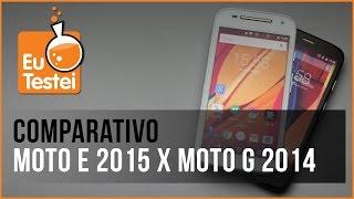 Moto E 2º geração x Moto G 2013 XT1033 Motorola Smartphone - Vídeo Comparativo EuTestei Brasil