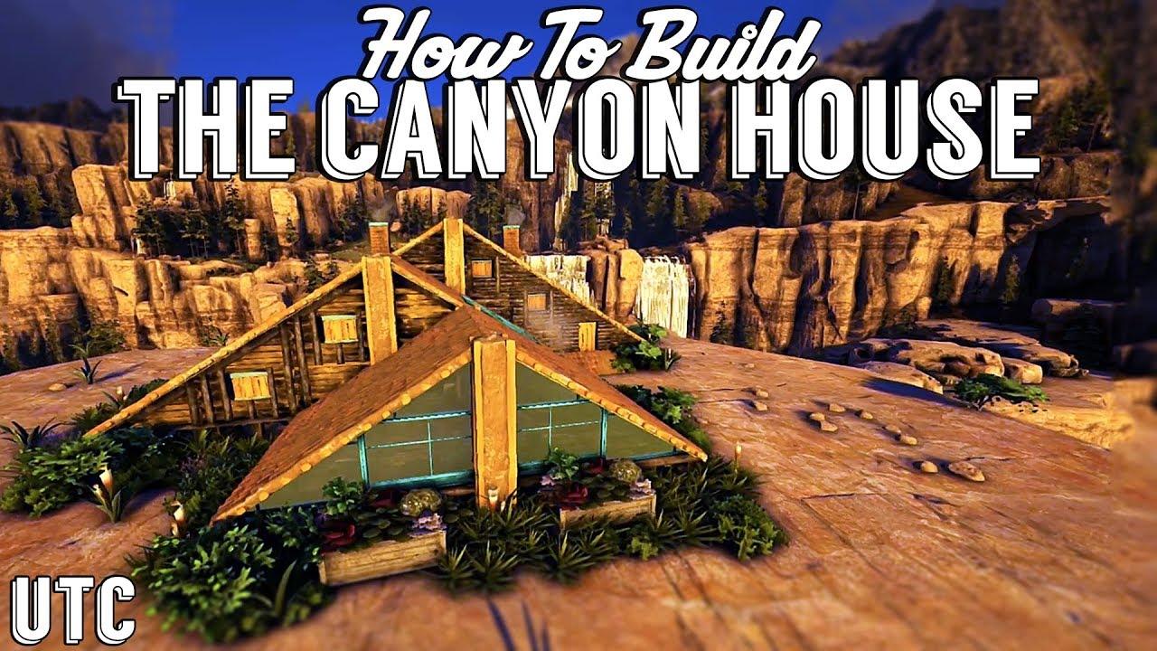 Triple AFrame House  Ark Building Tutorial No Mods  How To Build A Ragnarok Canyon House