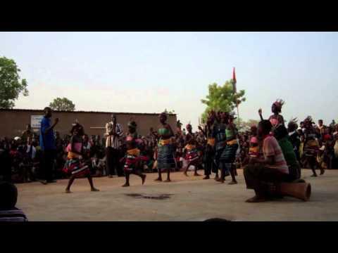 Burkina Faso children doing a traditional dance
