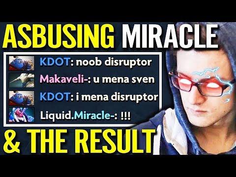 DO NOT TRASH TALK WITH MIRACLE- - Not Support!! [Disruptor] NEW Carry Safe Lane Dota 2
