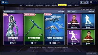 *NEW*Frozen Gear Bundle & Snowstrike Skin! Fortnite Item Shop February 8, 2019