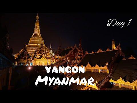 Liburan Ke Myanmar Dec2017/ Shwedagon Pagoda, Chinatown Yangon / Day 1