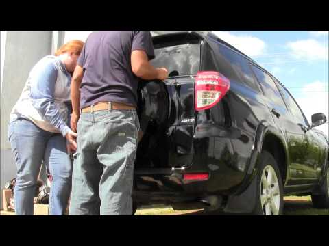 Access Remove Install Spare Tire Cover on Toyota RAV4