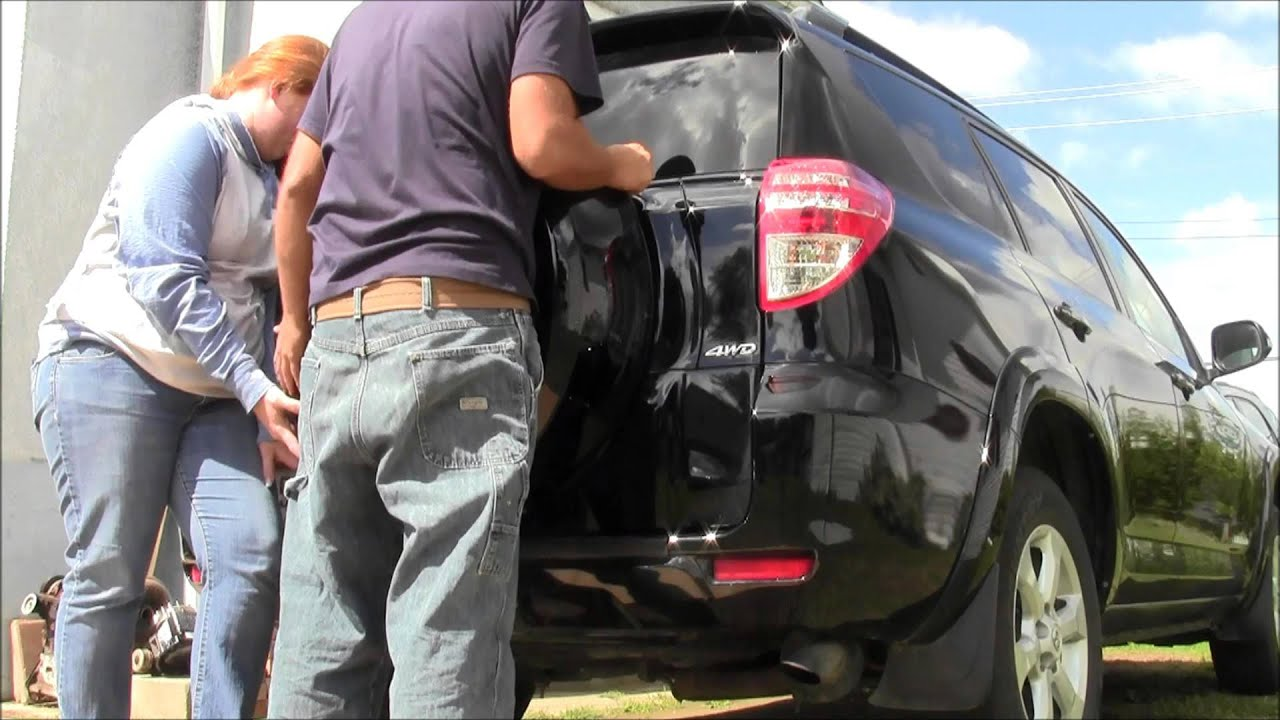 Toyota RAV4 Owners Manual: Opening the back door from outside the vehicle