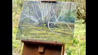 "Plein Air Oil Painting Demonstration - Woodland With ""daughters Of The Wind"""
