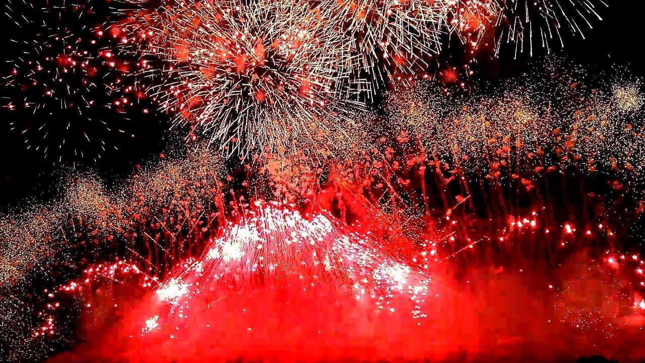 2018 長野えびす講煙火大會 紅屋青木煙火店 ミュージックスターマイン スマホ撮影 113th Nagano Ebisukou Fireworks ...