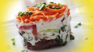 Пикантный Салат с Вяленым Мясом и Корейской Морковью ♥ Рецепты NK cooking