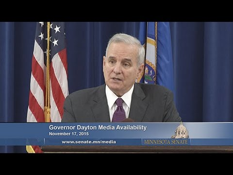 Governor Mark Dayton Media Availability, November 17, 2015