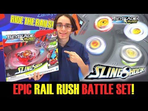 BEYBLADE BURST TURBO! Rail Rush Battle Set Unboxing & Review - Wonder Valtryek V4 Achilles A4